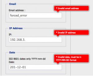 jQuery inline form validation