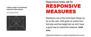 Responsive Measure