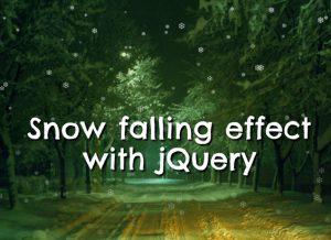 jQuery Snow Effect Plugin