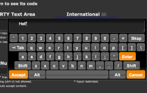 Virtual jQuery Keyboard