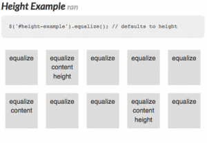 Equalize jQuery Plugin