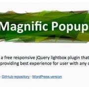 Magnific Popup « jQuerylabs com