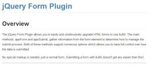jQuery Form Plugin