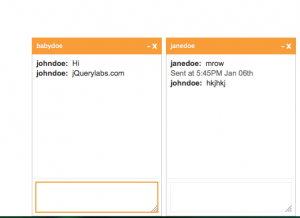 Gmail / Facebook Style jQuery Chat