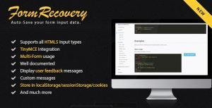 jQuery Form Recover